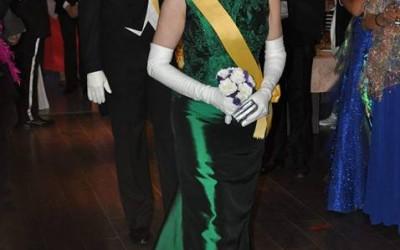 Queen Carolyn and Prince David enter the Ball