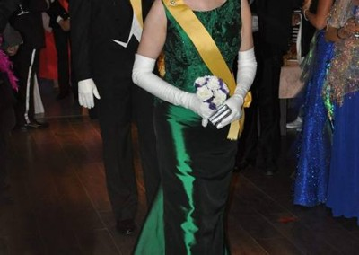 Queen Carolyn and Prince David enter the Ball