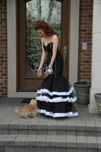 Crown Princess Greta greets a furry fan