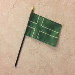 Small (4x6) desk flag. No stand.