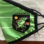 Ladonia Flag Face Mask - Left Side with Coat of Arms